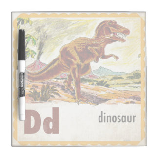 D is for Dinosaur Dry-Erase Board