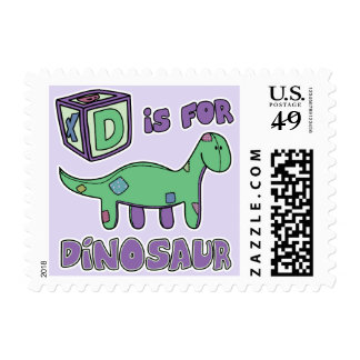 D is for Dinosaur Postage Stamps