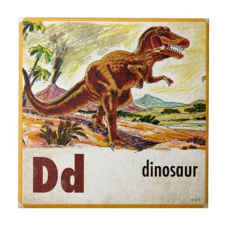 D is for Dinosaur Tile