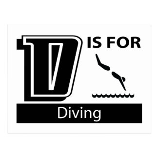 D Is For Diving Postcard
