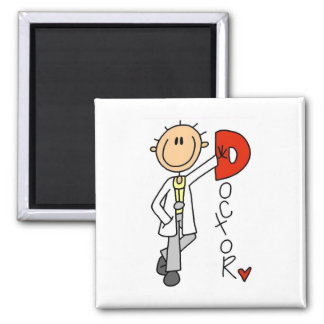 D is for Doctor 2 Inch Square Magnet