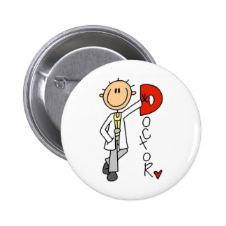 D is for Doctor Pinback Button