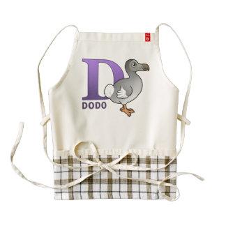 D is for Dodo Zazzle HEART Apron