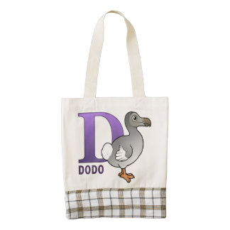 D is for Dodo Zazzle HEART Tote Bag