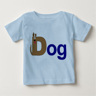 D is for Dog Blue Shirt