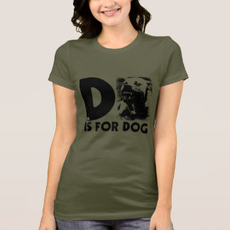 D is for Dog Ladies Petite Tee