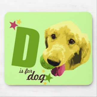 D is for Dog Mousepad