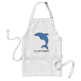 D is for Dolphin Adult Apron