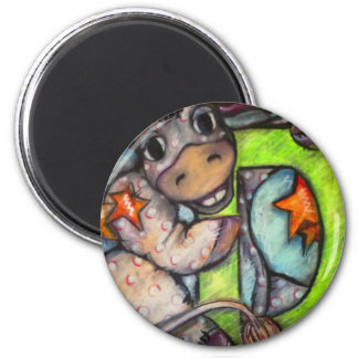 D is for Donkey 2 Inch Round Magnet