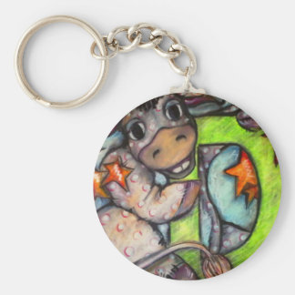 D is for Donkey Basic Round Button Keychain