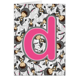 D is for Donkey Girl Card