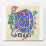 D is for Dragon! Mousepad