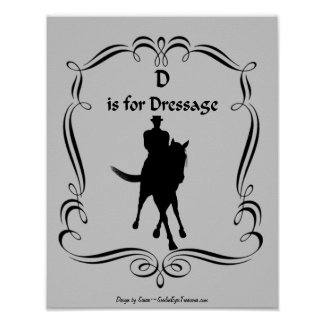 D Is For Dressage Horse Rider Silhouette Poster