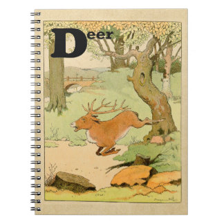 D is for Whitetail Deer Stag Alphabet Notebook