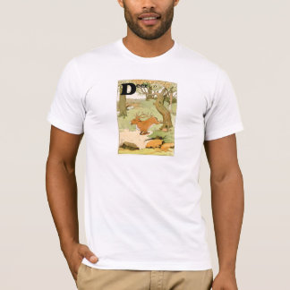 D is for Whitetail Deer Stag Alphabet T-Shirt