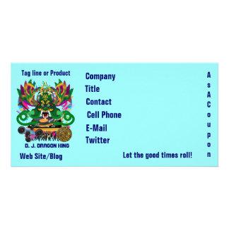 D. J. Dragon King Mardi Gras Theme Plse View Notes Picture Card