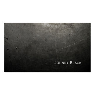 D.J. Metal Industrial Scratched Iron Black Double-Sided Standard Business Cards (Pack Of 100)