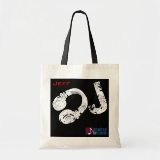 d.j. music personalized tote bag