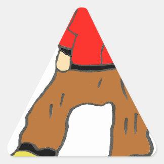 D JEUN SKATEBORDEUR.png Triangle Sticker