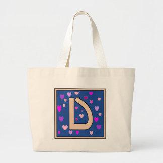 D-Just Peachy Monogram Jumbo Tote Bag