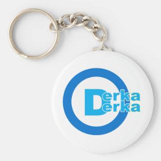 D-logo DERKA DERKA Basic Round Button Keychain