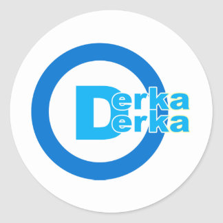 D-logo DERKA DERKA Classic Round Sticker