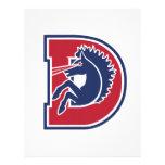 D Logo Letterhead Design