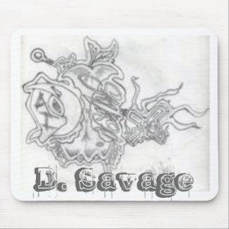 D. Logotipo salvaje Mousepad Tapete De Raton