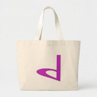 d Lowercase American Letter Jumbo Tote Bag