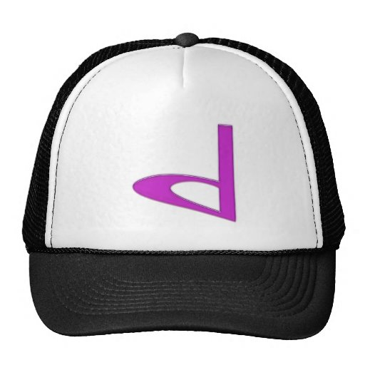 d Lowercase American Letter Hats