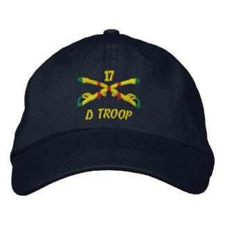 D marcha gorra bordado 17ma caballería gorros bordados