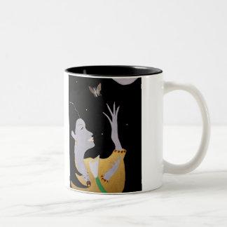 "D.Marquis ""BUTERFLY NIGHTS"" Two-Tone Coffee Mug"
