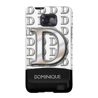D- Modern Metallic Monogram Galaxy S2 Cases