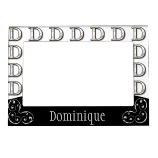 D- Modern Metallic Monogram Magnetic Picture Frame