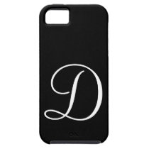 D Monogram Black IPhone 5 Case