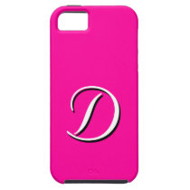 D Monogram Pink iPhone 5 Case