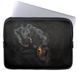 Neoprene Laptop Sleeve 13 inch with Dachshund Phone Cases design