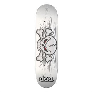 D.O.A. Tribal Skull Skateboard