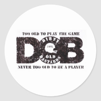 D.O.B Vintage collection Classic Round Sticker