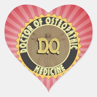 D.O. BADGE vitruvian Man DOCTOR OSTEOPATHY Heart Sticker