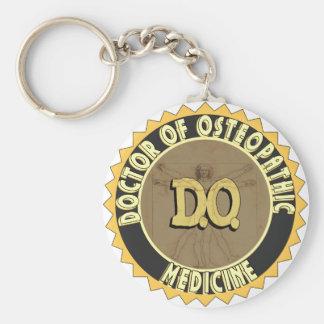 D.O. BADGE vitruvian Man DOCTOR OSTEOPATHY Key Chain