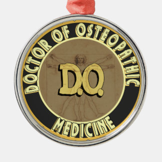 D.O. BADGE vitruvian Man DOCTOR OSTEOPATHY Christmas Ornament