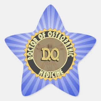 D.O. BADGE vitruvian Man DOCTOR OSTEOPATHY Star Sticker