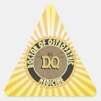 D.O. BADGE vitruvian Man DOCTOR OSTEOPATHY Triangle Sticker