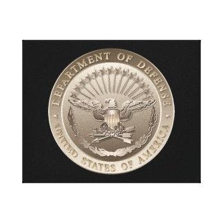 D.O.D Government Emblem Stretched Canvas Print