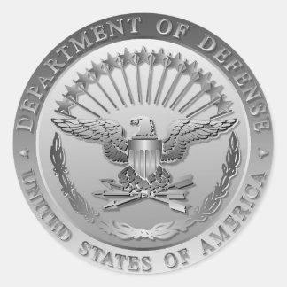 D.O.D Government Emblem Classic Round Sticker