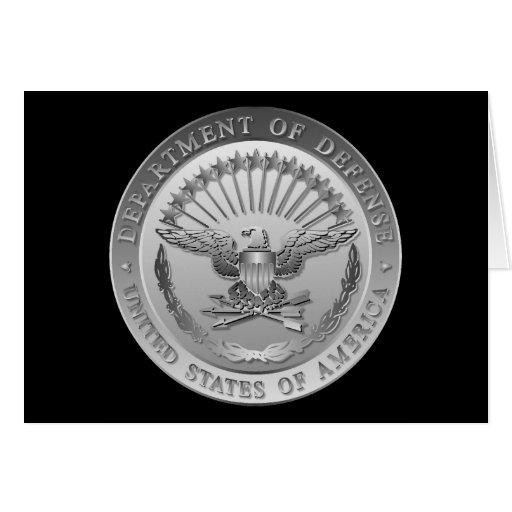 D.O.D Government Emblem Greeting Card