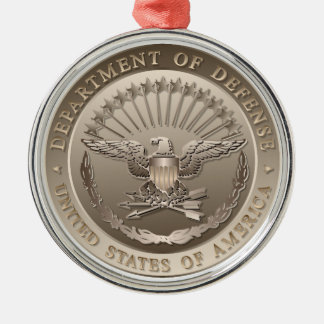 D.O.D Government Emblem Metal Ornament