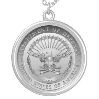 D.O.D Government Emblem Round Pendant Necklace