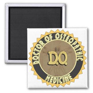 D.O. El DOCTOR vitruvian OSTEOPATHY del hombre de  Imán Cuadrado